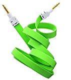 Neue Qualität Grün 3.5mm Stereo Stecker auf Stecker AUX Wohnung Kein Tangle Noodle Kabelkabel für Apple Ipad iPad4 Air Ipad mini iPhone 6.6 +, 5/5 s, 5C Ipod Samsung S5, S4, S3, Alle Genreations Mp3 Mp4 Player Sony Creative Samsung, HTC, Motorla, Alle Laptop PC und ard 3.5mm Klinkenstecker