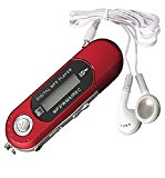 Yistu 8GB USB 2.0 Flash Laufwerk LCD Mini MP3 Musik-Player w / FM Radio Diktiergerät,rot