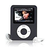 Ularma8GB Mini MP3 MP4 Player Ultra dünn mit 1.8'' LCD Bildschirm,1x Kopfhörer + 1x USB-Kabel (schwarz)