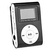 Mini-Metall-MP3 Mikro-Sd TF USB-Unterstützung für den Sport zu 16GB Karte Media Player Musik Zufalls up & Laufen (NO SD-Karte) (schwarz)