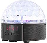 auvisio Mobile Discokugel mit Lautsprecher, Bluetooth, MP3-Player, 20 Watt
