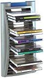 BECO CD-Ständer für 24 CDs auch als CD-Flip einsetzbar Wandmontage möglich, Farbe: Grau/blau, Maße: 18.0 x 13.0 x 38.5 cm
