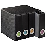Hama CD/DVD/Blu-Ray Aufbewahrungsbox für 96 CDs (4 herausnehmbare Alben, beschreibbarer und auswechselbarer Farbeinsatz, Wandmontage möglich) CD-Archivierungssystem schwarz