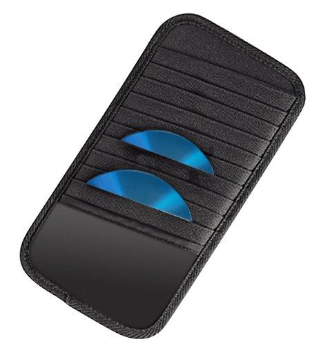 Hama Sonnenblende Tasche (geeignet für 10 CDs, Auto CD Aufbewahrung) schwarz