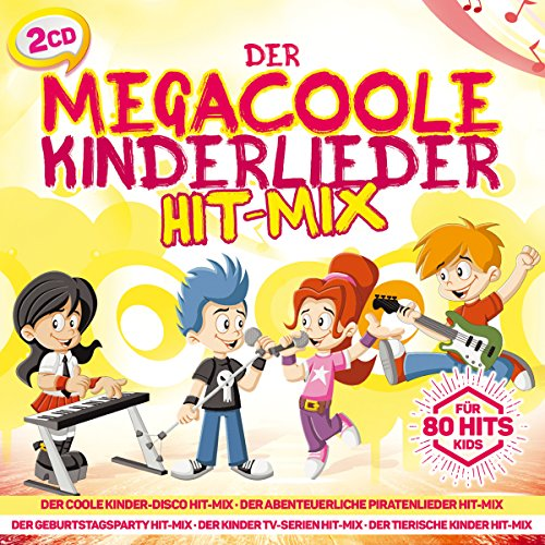 Der megacoole Kinderlieder Hit-Mix; 80 Hits für Kids; Kinderparty, Kinder; Kinder-Disco Hitmix; Piratenlieder; Gepurtstagsparty; TV-Serien Hitmix; Lustige Kinderlieder; Tierische Kinderlieder; Bauernhof Hitmix; Country Hitmix; Duschellieder Hitmix;