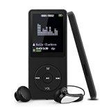 Swees 8GB MP3 Player Tragbare MP3 Musik Player mit FM Radio Funktion 70 Stunden Wiedergabe, inklusive kopfhörer und USB kabel, Schwarz