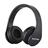 Funkkopfhörer,Sunvito 5 in 1 Faltbare Wireless Bluetooth Kopfhörer mit TF, MP3 Player, FM Radio, Wired Headphones mit Mikrofon Over-Ear-Stereo-Headset für iPhone, Samsung, iPod, Android, Laptops, PC