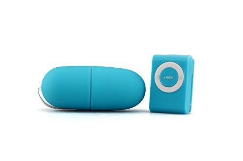 Extasialand Vibroei mit Fernbedienung im MP3 Player Design 20 Stufen in blau