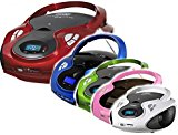 Tragbarer CD MP3 Player USB SD-Card Radio Tragbares Kinder CD-Radio Boombox (Grün)
