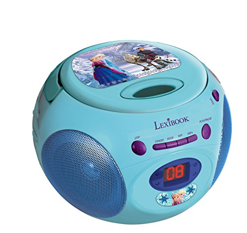 LEXIBOOK RCD102FZ Boombox Die Eiskoenigin Disney Frozen Toploading CD Player AM/FM Radio