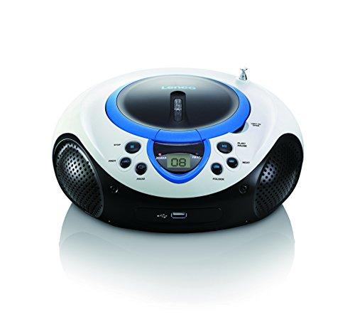 Lenco SCD-38 Tragbares UKW-Radio mit CD/MP3-Player (USB 2.0)blau