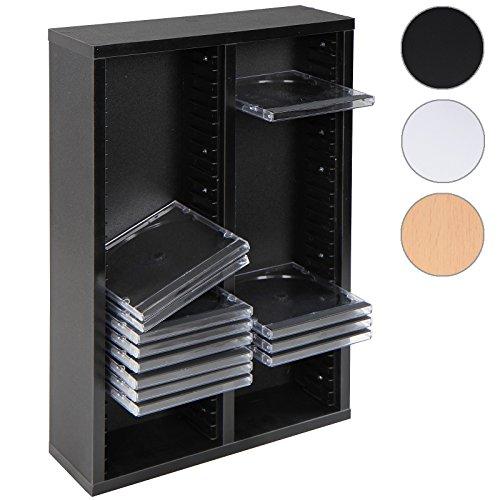 Jago CD-Regal CD-Wandregal CD Ständer mit Platz für 60 CDs in drei verschiedenen Farben
