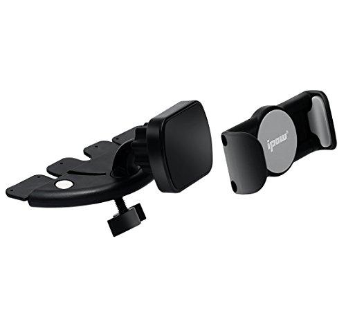 [ Klammer + Magnet ] Ipow® Universal Kfz Magnet Handyhalterung Handy halter für auto CD-Schlitz, geeignet für iPhone 7 plus / 7 / 6s Plus / 6s / 6 Plus/ 6 / 5s / SE, Android System Smartphone, Samsung Galaxy S7 Edge S6 S5 Note 5 4 etc