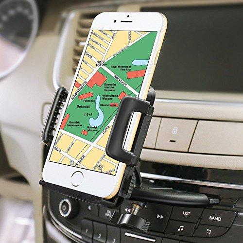 iVoler® Handyhalterung Auto Phone Halter für CD-Schlitz, Universal Handy KFZ Halterung 360 Grad Drehbar Autohalterung für iPhone 7 6S Plus 5S 5C SE, Samsung Galaxy S7 Edge, Huawei P9 Lite, LG, GPS, MP3 und andere Smartphone (50-95 mm breit)