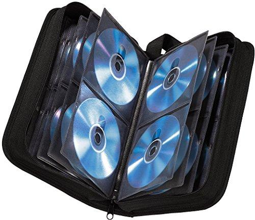 Hama CD Tasche für 64 CDs/DVDs/Blu-rays, Mappe zur Aufbewahrung, schwarz