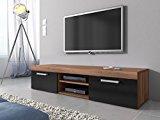 TV Möbel Lowboard Schrank Ständer Mambo Walnuss Eiche /schwarz 160 cm