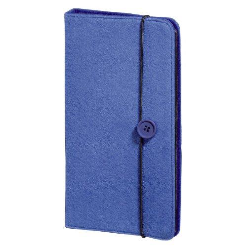 Hama CD Tasche Filz (zur Aufbewahrung und Schutz für 48 CDs, DVDs und Blu-rays) blau