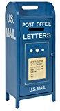 ts-ideen Retro CD DVD Bücher Schrank Regal Aufbewahrung Mailbox Design Briefkasten in blau 71,5 x 30 cm
