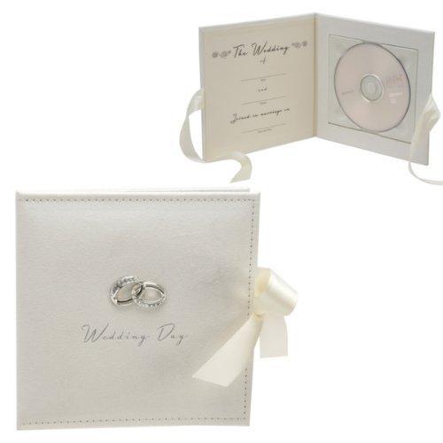 Hochzeit CD / DVD Halter mit Metall Ring Icons